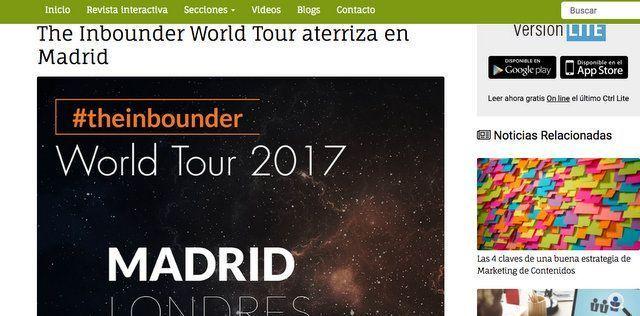 Wave On Media_Aparición en Medios_INTERACTIVA GRUPO CONTROL THE INBOUNDER WORLD TOUR