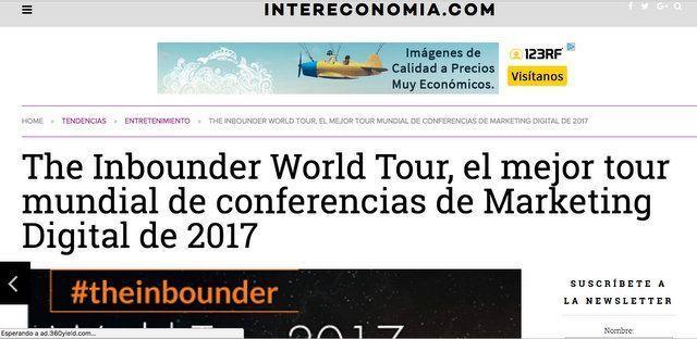 Wave On Media_Aparición en Medios_INTERECONOMIA.COM THE INBOUNDER WORLD TOUR