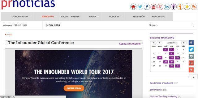Wave On MEDIA_Aparición en Medios_PRNOTICIAS THE INBOUNDER WORLD TOUR