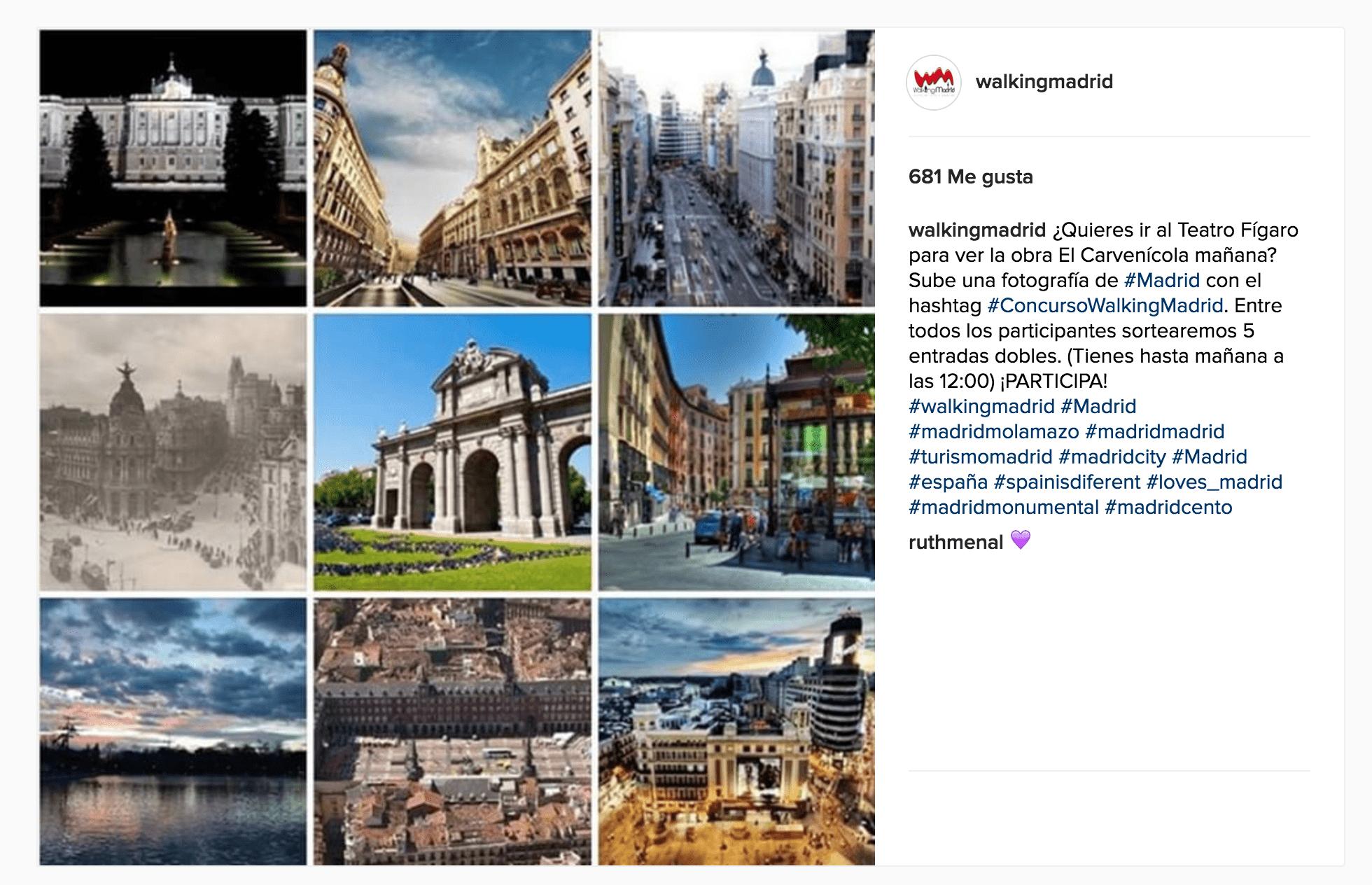 Wave On Media_Social Media_Walking Madrid Concurso Instagram