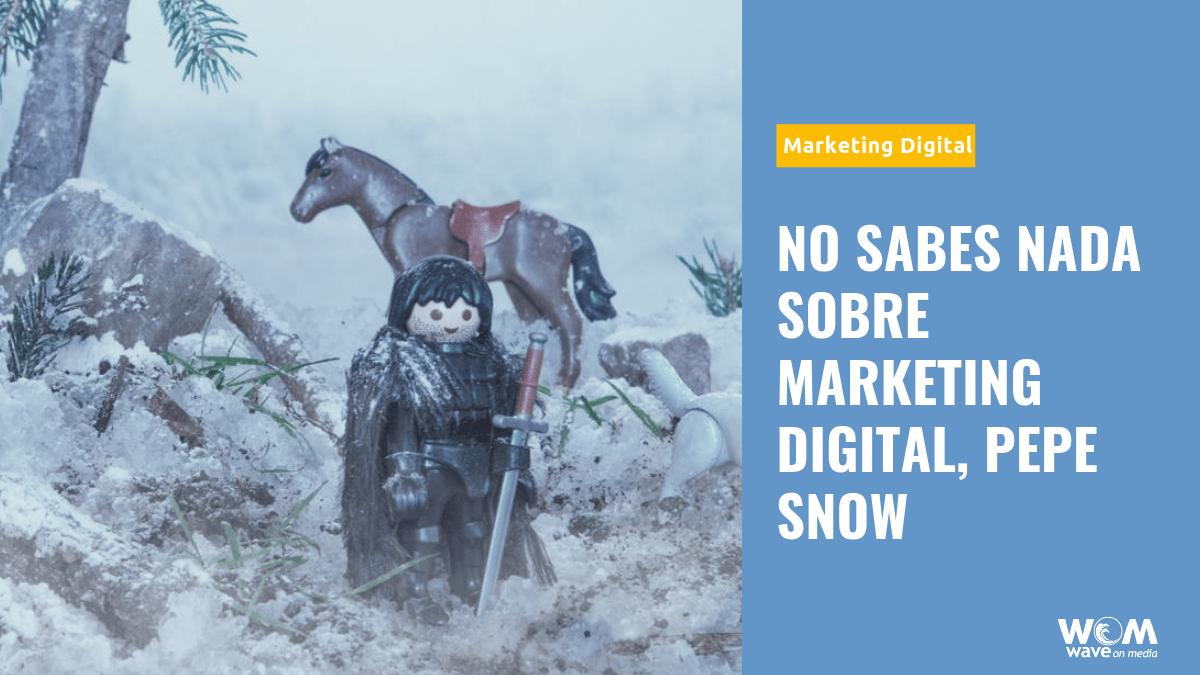 No sabes Nada sobre Marketing Digital, Pepe Snow_Wave On Media